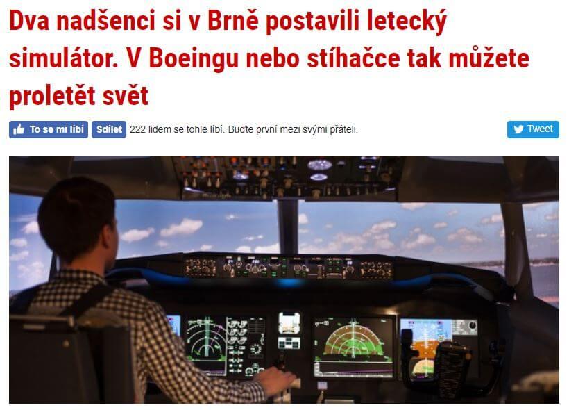 Článek na Brněnské Drbně